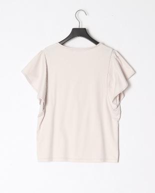 ベビーピンク シルスムースフレアスリーブTシャツを見る