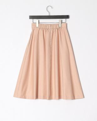 ベビーピンク フロントボタンフレアスカートを見る