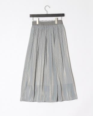 ライトブルー シャンブレーフレアスカートを見る