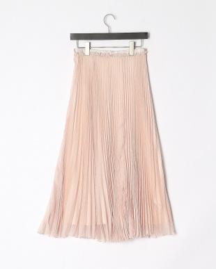 ベビーピンク ファインスパンオーガンザプリーツスカートを見る