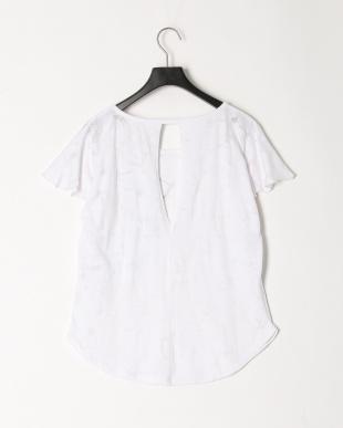 ホワイト 透かし柄Tシャツを見る