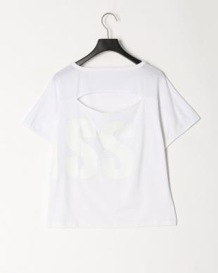 ホワイト ドルマンデカロゴTシャツを見る
