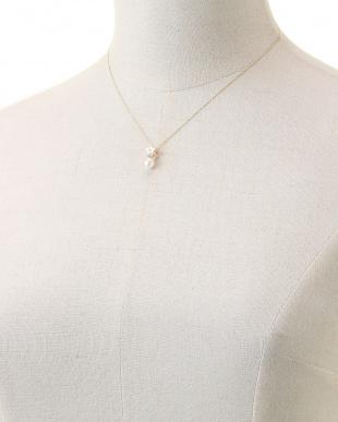 イエローゴールド K18 パール/半貴 マルチ ネックレスを見る