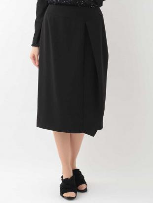 ブラック 【日本製】ジョーゼットアシンメトリーデザインスカート HIROKO KOSHINO premierを見る