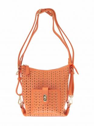 オレンジ 【3WAY】メッシュデザインバッグ MK MICHEL KLEIN BAGを見る