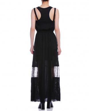 ブラック シースルー切替 レーサータンク ドレスを見る
