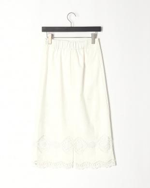 91/無彩色B(オフホワイト) 刺繍レース ロングスカートを見る