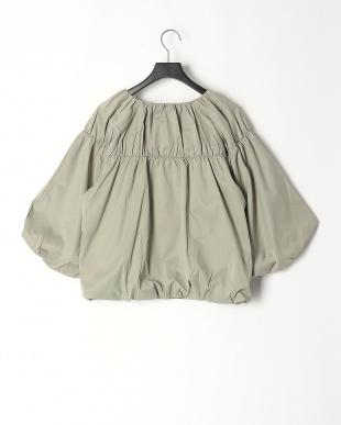 55/緑系H(グリーン) ギャザーアクセント バルーンスリーブ 七分袖ブルゾンを見る