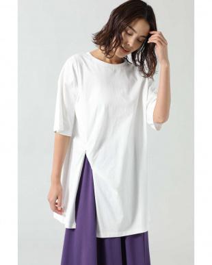 ホワイト ねじりチュニックTシャツ R/B(オリジナル)を見る