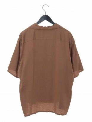ブラック レーヨンアサオープンカラーシャツ a.v.v HOMMEを見る