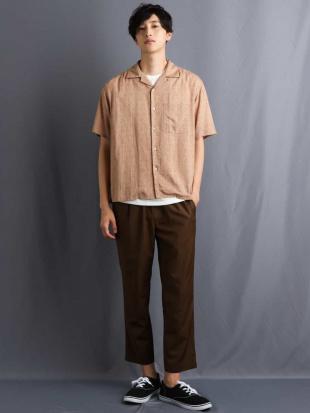 ベージュ アロハガラプリントオープンカラーシャツ a.v.v HOMMEを見る