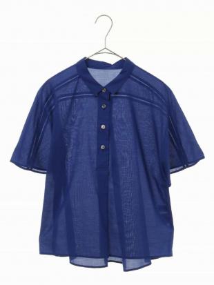 ブルー 【洗える】コットンシルクローンブラウス CHRISTIAN AUJARD Sサイズを見る