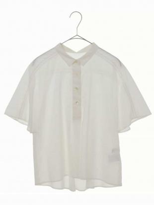 ホワイト 【洗える】コットンシルクローンブラウス CHRISTIAN AUJARD Sサイズを見る