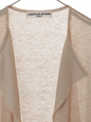 ホワイト 【洗える・日本製】ブライトリネンロングジレ CHRISTIAN AUJARD Sサイズを見る