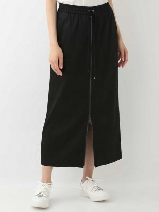 ブラック 【洗える】ストレッチジップスカート TRUNK HIROKO KOSHINOを見る