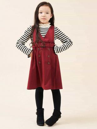 レッド [100-130]トレンチプリーツジャンパースカート[WEB限定サイズ] a.v.v bout de chouを見る
