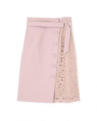 ピンクベージュ ◆アシメレースタイトスカート プロポーション ボディードレッシングを見る
