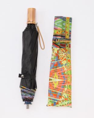 グリーン UNI202遮光晴雨兼用折りたたみ傘 モザイク柄を見る