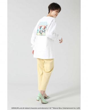 ブルー <ROSE BUD別注>グレムリンプリントロングスリーブTシャツ R/B(オリジナル)を見る