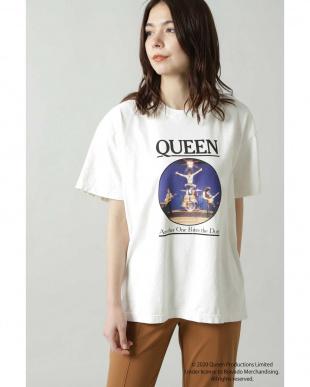 ホワイト QUEENプリントTシャツ R/B(オリジナル)を見る