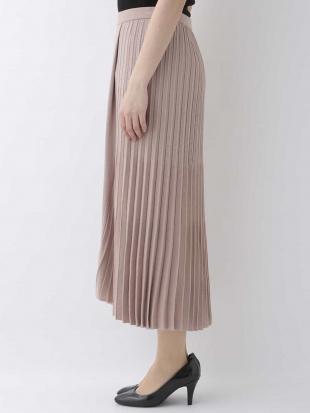 ベージュ 【洗える】【日本製】プリーツニットスカート GEORGES RECHを見る