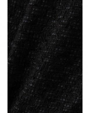 ブラック ペーパーヤーンツイードノーカラージャケット アドーアを見る