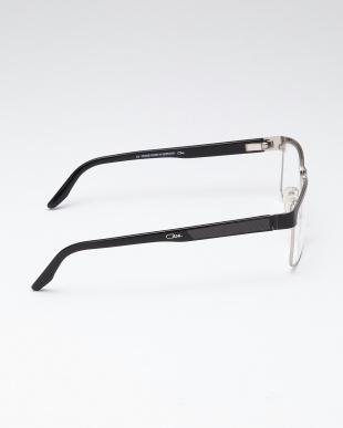 ブラック/シルバー メガネフレームを見る