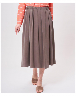 ベージュ2 ギャザーロングスカート 7-ID concept.を見る