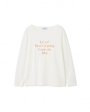 オフシロ×オレンジ ◆ロゴロングTシャツ ヒューマン ウーマンを見る