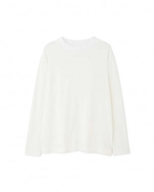 ホワイト ≪Japan couture≫スーピマ接結カットソー ヒューマン ウーマンを見る