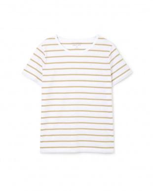 シロ×イエロー1 新きょう綿半袖Tシャツ ヒューマン ウーマンを見る