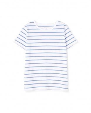 オフ×ブルー1 新きょう綿半袖Tシャツ ヒューマン ウーマンを見る