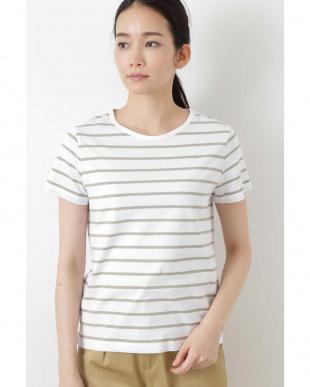 シロ×Lカーキ1 新きょう綿半袖Tシャツ ヒューマン ウーマンを見る