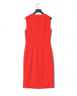 Bright Red ノースリーブ ジップ アシンメトリー デザインドレスを見る