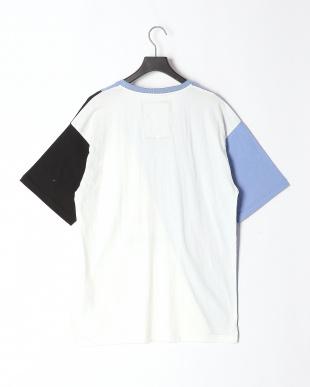 ブルー 切替ラビルザメTシャツを見る