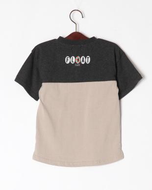 ベージュ バイカラーTシャツを見る