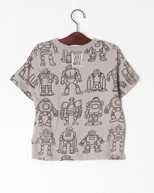 グレー ロボット総柄BIG Tシャツを見る