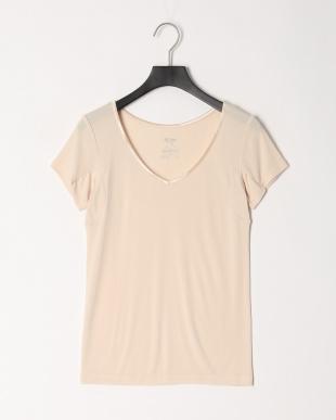 ソフトベージュ アイスデオ2分袖シャツ 接触冷感、抗菌防臭、吸水速乾、汗取りパッド付を見る