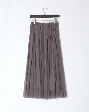グレー チュールフレアースカートを見る