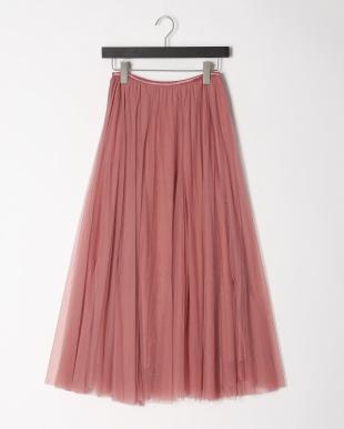 ピンク チュールフレアースカートを見る