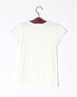 ホワイト お袖レースTシャツを見る