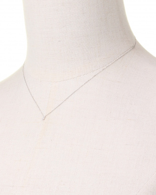 WHITE GOLD K10WG TINY LETTERED Diamond NECKLACE [J]を見る