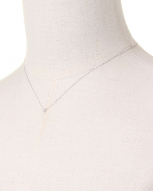 WHITE GOLD K10WG TINY LETTERED Diamond NECKLACE [R]を見る