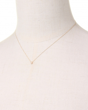 YELLOW GOLD K10YG COLORRTONE RHOMBUS NECKLACE [DIAMOND]を見る