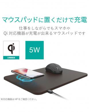 ブラウン 「マウスパット」 ワイヤレス充電機能付き/置くだけ充電/5W/ソフトレザーを見る