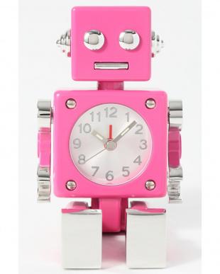 ピンク ロボット ミニチュアクロックを見る