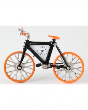 オレンジ/ブラック 自転車 ミニチュアクロックを見る
