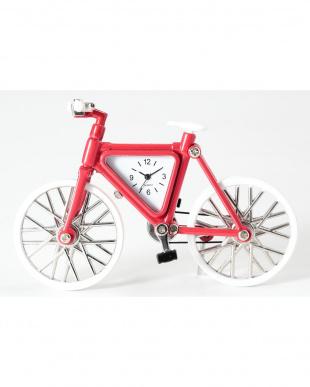 レッド/ホワイト 自転車 ミニチュアクロックを見る