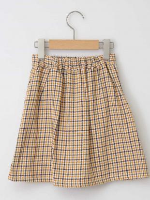 イエロー [140-150]チェックフロントボタンスカート a.v.v bout de chouを見る