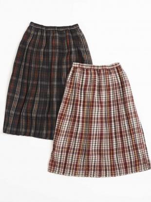 ブラウン 【午後の紅茶×a.v.v】[140-150]ラテチェックプリーツスカート a.v.v bout de chouを見る
